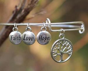 Старинные ювелирные изделия Love For Hope Tree Life Silver Круглый браслет провода Fairh расширяемый Свадебные манжета браслеты шарма женщин Подвески Аксессуары Iejq