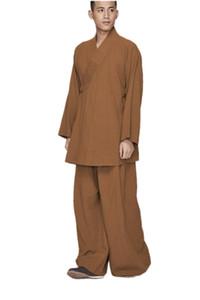 ZanYing Men's Csual Meditation Conjuntos de Yoga Flojo Monje Budista Outfit ZYS264