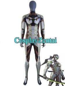 2018 neues Spiel Genji Cosplay Kostüm 3D Print Spandex Genji Zentai Body