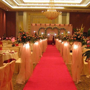 Wedding carpet Party banquet Decoration Nonwoven 85cmx5m Runner Rug Aisle Red long 23067 Blanket