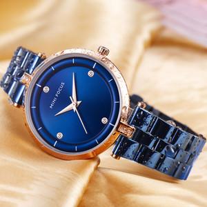 Reloj MINIFOCUS Mujer Relojes de Cuarzo Reloj de Primeras Marcas de Lujo de Acero Inoxidable Pulsera Diamantes Vestido Reloj MF0120L