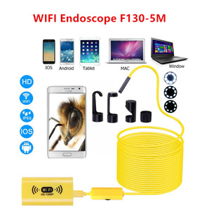 1200P 5M Wifi Endoscope Camera Android Iphone Borescope Waterproof Snake Tube Endoscope Android iOS Wirelessكاميرا التفتيش