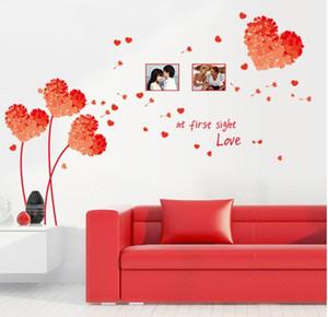 7176E DIY Mur Art Decal Décoration Orange Amour Herbe Cadre Stickers Muraux Décor À La Maison 3D Papier Peint pour le salon