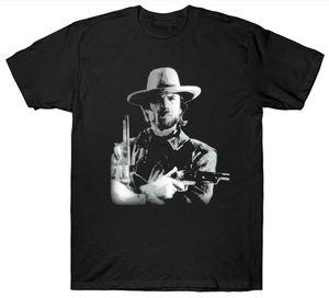 Magliette Clint Eastwood T Shirt Cowboy Wild West Film Vintage Retro Birthday Funny Top Tee New Unisex Funny Tops Spedizione gratuita