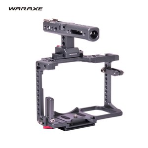 WARAXE GH5 Kit Caméra Vidéo Poignée Cage Poignée pour Appareil Photo DSLR GH5 GH4 de Panasonic, Compatible Quick Release Pour Arca Swiss