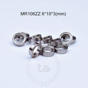 MR106ZZ 6 * 10 * 3 (мм) 10pieces свободный подшипник доставка ABEC-5 Metal Запечатанный Миниатюрный Mini подшипник MR MR106 MR106ZZ подшипники Миниатюрные