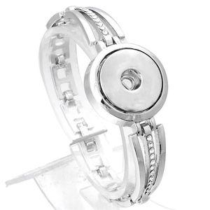 Xinnver Snap Браслет DIY Подвески Серебряные Браслеты Браслеты С Кристалл Fit 18 мм Snap Кнопки Для Женщин Ювелирные Изделия ZE368