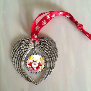 승화 빈 눈송이와 크리스마스 장식 장식 빨간 밧줄 뜨거운 전송 인쇄 천사의 날개 모양 빈 소모품 소모품