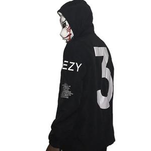 Männer Celeb Kanye West Thin Windbreaker Wasserdichte Streetwear mit Hut Arm Letters Hip Hop Street Dance Jacke