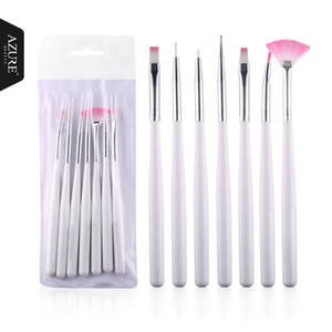 Venta caliente Herramientas de Uñas 7 Unids Rose Diseño Nail Art Pen Pintura Punteado Herramienta Brush Set Art Pen