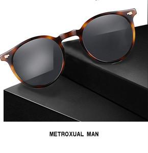 NUEVA OV5258 vidrio eyeglow gafas de sol polarizadas Design48-18-135UV400goggles redondas retro-cosecha conjunto completo de los casos freeshipping salida de OEM