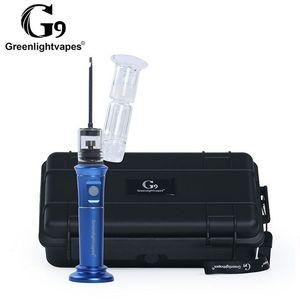 الأصلي greenlightvape g9 henail plus kit الإلكترونية الشمع أنابيب المياه الزجاج بونغ مع السيراميك / titianium السلطانيات مبخر الكهربائية enail