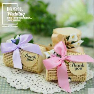 Свадьба бамбук конфеты коробка круглое сердце деревянный корпус европейский стиль оригинальный личность творчество изысканный ручной работы пользу коробка