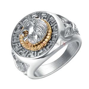 Yoursfs классический мужской панк-стиль хип-хоп кольцо группа прохладный голова льва золото и серебро цвета кольца