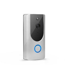 720P Kablosuz WiFi Kapı Diyafonu 1.0MP Kapı zili Kamera Gece Görüş Çift Yönlü Ses Batarya Operasyonu Su geçirmez