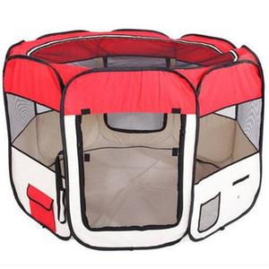 """2018 Gros 57 """"Portable pliable 600D Oxford tissu Mesh Pet clôture de parc avec huit panneaux 59cm 94cm chien voyage à l'extérieur"""