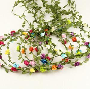 20 unids flor corona diadema Headwear nupcial tela flor corona boda accesorios para el cabello diademas floral cabeza corona