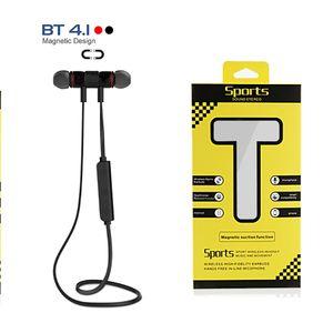 XT-6 inear handfree magnética fone de ouvido bluetooth v4.1 esportes estéreo em fone de ouvido de música com microfone para iphone x samsung s9