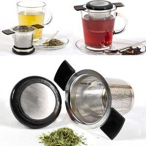 In acciaio inox infusore tè in rete con manico in silicone riutilizzabile colino allentato filtro foglia di tè diffusore per cucina da pranzo bar strumento WX9-531