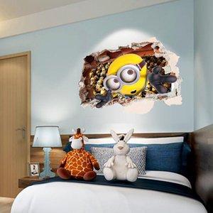 الرجل الأصفر من خلال ملصقات الحائط غرفة الاطفال ديكورات 9268. diy منزل الشارات نافذة ملصقات جدارية الفن الكرتون فيلم الطباعة 3.0