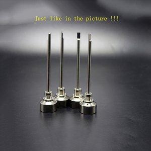 Assim como na foto !!! GR2 Titanium 14mm 18mm Ti-prego Carb Cap Dab Oil Rig Domeless Titanium Carb Caps Angled Buraco Alça Dabber