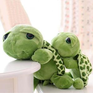 Novo 20 cm Super Verde Olhos Grandes Recheado Tartaruga Tartaruga Animal de Pelúcia Macia Brinquedo Do Bebê Presente Frete Grátis