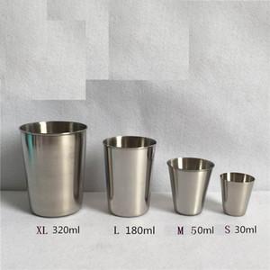 New Stainless Steel Metal Beer Cup Wine Cups Coffee Tumbler Tea Milk Mugs Home Drinkware 30ml 50ml 180ml 320ml