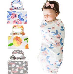 Europa Baby Florals Flamingo Swaddle Wrap Coperte Involucri Involucri Coperte Biancheria da letto D'allarina D'auguri Bambino Neonato Panno avvolto con fascia A154
