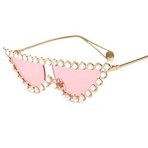 Mode diamant Lunettes de soleil Cristal Cadre Femmes Marque Designer Sun GlassesFashion Cat Eye Lunettes de soleil Femme top bonne Métal Lunettes UV400W7