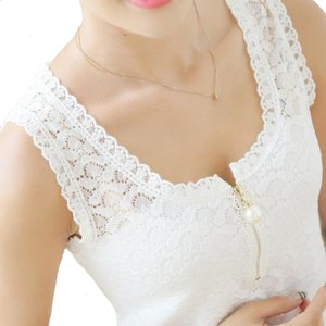 Artı Boyutu Bluz Gömlek Kadın Siyah / Beyaz Bluzlar O-Boyun Seksi Dantel Çiçek Moda Bayanlar Blusas Tops Gömlek Giyim kadın Tankları Blusa