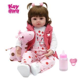 KAYDORA 47cm / 55cm 실리콘 Reborn Baby Dolls 아기 살아있는 현실적인 Bonecas 실생활 Real Girl 인형 Bebe Reborn Birthday Christmas