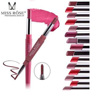 Miss Rose Brand Matte Lipstick 8Color Make up Lip Gloss Lip Line Impermeable Pigmento de larga duración Velvet Matte Lipstick Beauty Kit