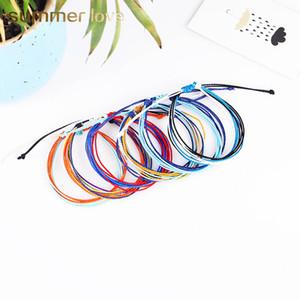 Cera de rosca pulseras tejidas hechas a mano pulsera de la amistad tejida de múltiples capas de cera cuerda pulseras multicolor ajustable pulsera trenzada Mujeres