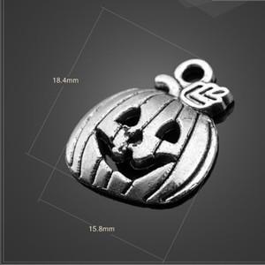 Hohe Qualität 10 Teile / los 18,4mm * 15,8mm DIY Zubehör Antike Silber Halloween Kürbis Charme Für Diy Schmuck machen Schmuck machen ganz