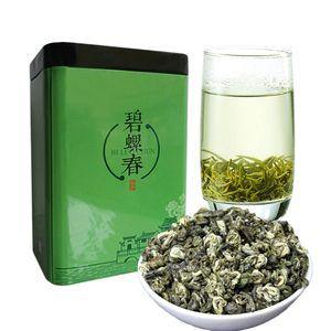 250г китайский Органический зеленый чай Ранняя весна Ароматные Biluochun сырье чай Health Care New Spring Tea Green Food Gift Iron Упаковка