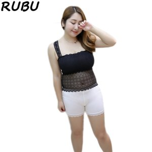 Mujeres Lace Camisole Fat MM Girl Anti-light recortada Tank Top largo negro blanco Tops tubo más chaleco sin mangas talla XXXL 8AJQ205