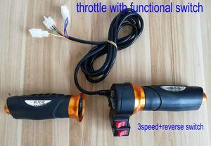 Twist Drossel mit cruise Rückwärts- / Hupenschalter 3speed Schalter für elektrisches Fahrrad Roller Dreirad MTB Rolllenkergriffe Accelerator