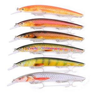 6 adetgrup 6 renk 18g 15 cm minnow balıkçılık Cazibesi sert yem yem olta takımı