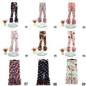 Neonate Fiore stampato Leggings Bambini stampa Florals Lace Pants Toddler Tights 0-9T 21 Stili Abbigliamento estivo