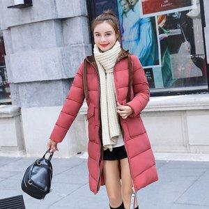 حار بيع الشتاء أسفل سترة الإناث سترة طويلة مبطنة بالقطن الملابس مبطنة بالقطن الجملة 816 مللي الملابس القطنية مبطنة