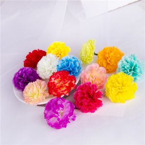 50 pcs 5 cm WedFavor Artificielle Décorative Tissu Carnation Imitation Fleur Heads Pour DIY Robe De Cheveux De Mariage Accessoires Carnation Heads