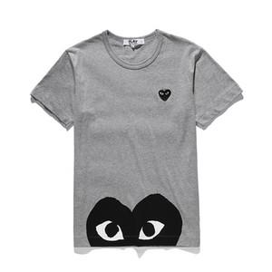 Top Qualität Herren Designer-T-Shirts Commes CDG spielt T-Stück der garcons Baumwolle printd Tees Männer Frauen legere weiße T-Shirts Sommerkleidung