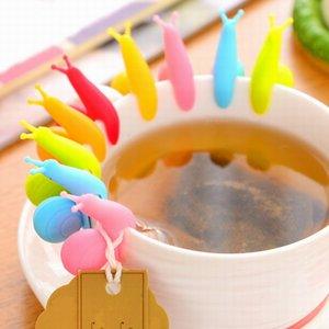 أدوات الطبخ الحلزون الصغيرة جهاز التعرف على الشاي infuser كوب من الشاي شنقا حقيبة لون عشوائي