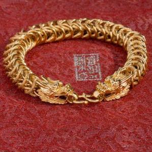 jewelry designer bracelets for men 30% silver plated gold color dragon head bracelets handmade chain bracelets hot fashion