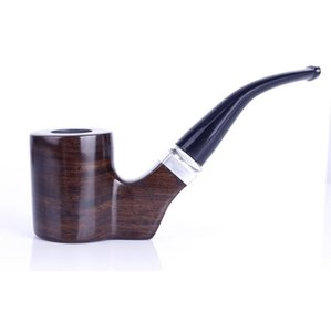 Un porte-cigarette à filtre en bois massif amovible avec marteau incurvé et tuyau plat horizontal libre