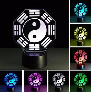 Chinesische Vorhersage Feng Shui Taiji Bagua Yin Yang Tai Chi Nachtlicht Home Office Tisch Dekor Lampe Nachtlicht Freund Geschäftspartner Geschenke