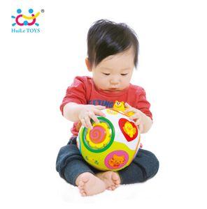 HUILE TOYS 938 Baby Toys طفل الزحف لعبة مع ضوء الموسيقى تعليم الشكل / عدد / الحيوان أطفال التعلم المبكر للتربية لعبة هدية
