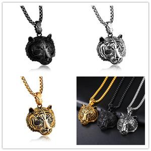 3 COLORI collana pendente tigre 18k oro argento placcato street dance animale collane gioielli pendenti testa di tigre regalo hip hop