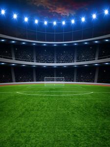 사진 스튜디오에 대한 5x7ft 비닐 디지털 실내 축구 축구 필드 배경 배경