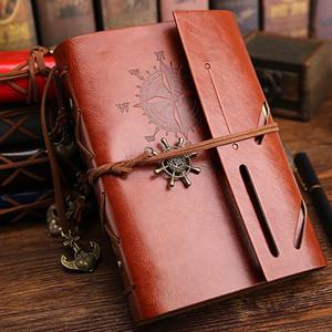 Livros de diário de viagens vintage kraft papers jornal notebook Pirata notepads escola barata estudante livros clássicos crianças presente